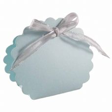 Light Blue Scalloped Clam Designer Favour Boxes